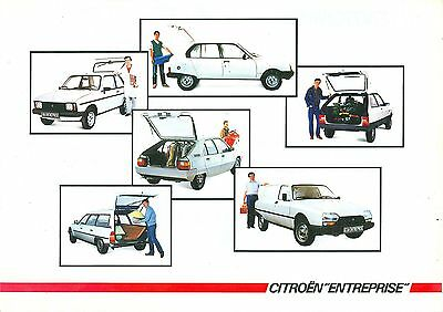1985 Citroen Light Commercial Vehicles Brochure (French)