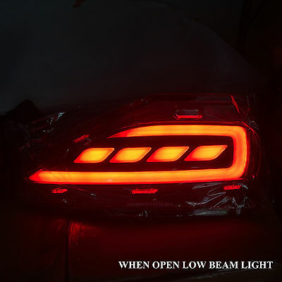 RED LED LAMP REFLECTOR TAILGATE BUMPER FOR TOYOTA FORTUNER 2WD 4WD SUV 2012-2015