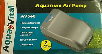 Aquavital Av540 Aquarium Air Pump 9325136057027