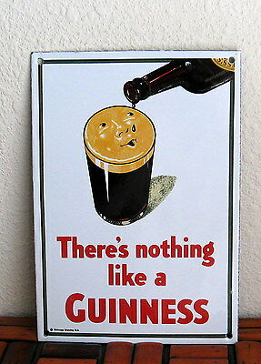 GUINNESS beer metal sign There's nothing like a guinness import dark ale bar