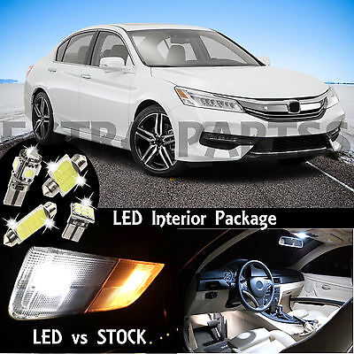 17pcs White Interior Premium LED Lights Package Kit for 2013-2016 Honda Accord