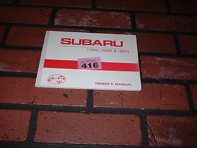 Genuine Subaru 1300,1600,1800 Owners Manual / Maintenance Handbook. 1979-1980