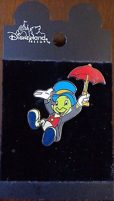 Disney Pin DLR Jiminy Cricket with Open Umbrella