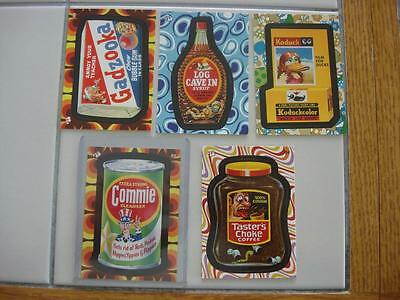 Wacky Packages Flashback Series 2 All 4 Bonus Stickers Plus Promo Card