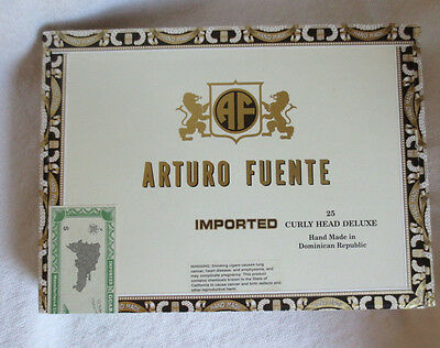 Arturo Fuente Curly Head Deluxe Maduro Paper Covered Cigar Box - Beautiful!