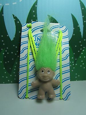 """NEW ON CARD Rare TROLL NECKLACE 2/"""" DAM Norfin Troll Doll"""
