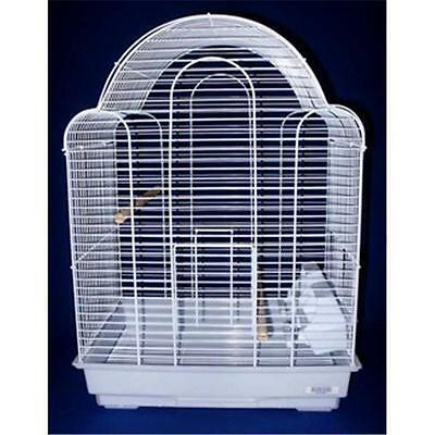 YML 1704WHT Shell Top Bird Cage in White