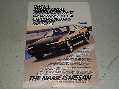 1986 NISSAN 200 SX article / ad