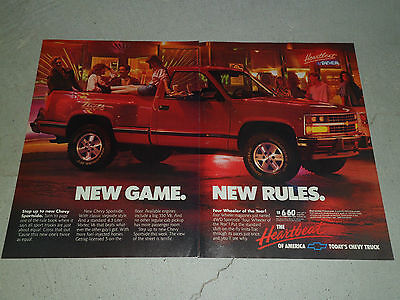1988 CHEVROLET SPORTSIDE PICK-UP article / ad