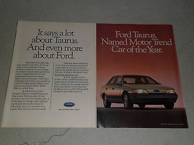 1986 FORD TAURUS article / ad
