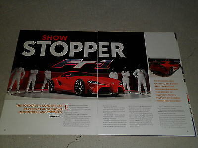 2015 TOYOTA FT-1 CONCEPT CAR article / ad