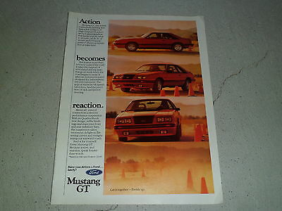 1984 FORD MUSTANG article / ad