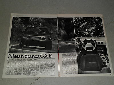 1986 NISSAN STANZA GXE article / ad