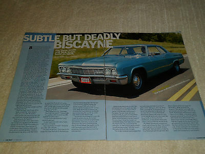 1966 CHEVROLET BISCAYNE article / ad
