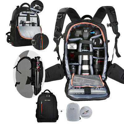 Super Large Camera Bag Backpack Rucksack SLR DSLR Case for Nikon Sony Canon UK