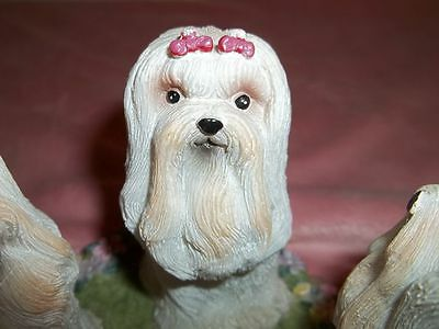 "CCI  MALTESE DOG CIRCLE OF FRIENDS  CANDLE DATED "" c) 2002""  GREAT COLLECTIBLE"