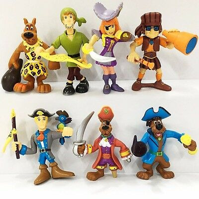 Promotion 7pcs Lot Scooby Doo Crew Pirates Mates Shaggy Fred Velma Daphne Figure