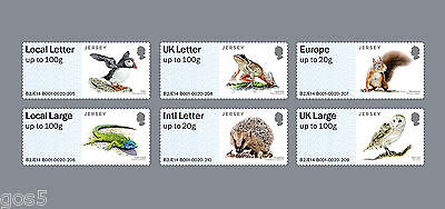 Jersey    2015 post & go animals Puffin Hedgehog frog owl  squirrel mnh us