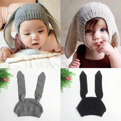 Cute Rabbit Ears Kids Baby Boy Girl Warm Beanie Infant Toddler Knit Hat Cap New