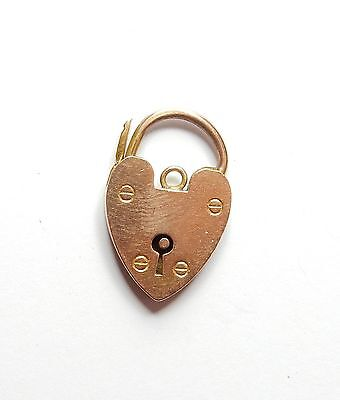 Rose gold padlock antique 9 carat gold large 3.9 grams bracelet catch fastening