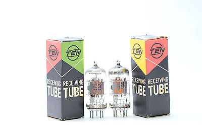 2 X 6AN8 TEN NOS/NIB TUBES. MATCHED PAIR 1960´s SQUARE GETTER