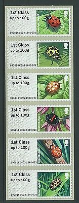 Great Britain 2016 Post And Go Ladybirds  Unmounted Mint, Mnh