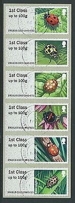 Great Britain 2016 Post And Go Ladybirds  Fine Used
