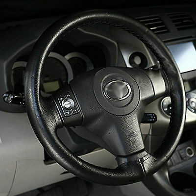 Car Auto Super Fiber Leather Steering Wheel Cover With Needle and Thread TY