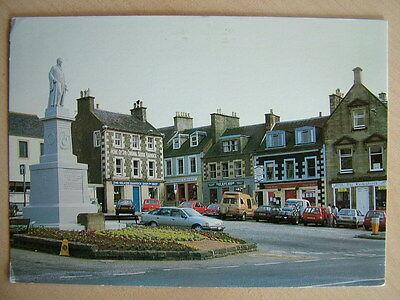 Postcard  THE MARKET PLACE, SELKIRK. Used 1989.