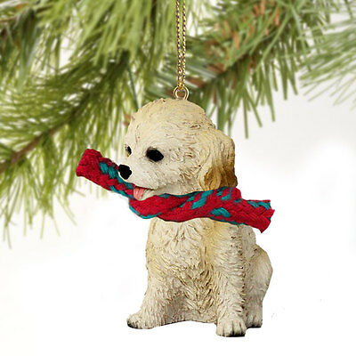 COCKAPOO dog HAND PAINTED ORNAMENT Resin Figurine BLOND puppy CHRISTMAS Holiday