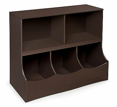 Badger Basket 98855 Multi-Bin Storage Cubby - Espresso NEW