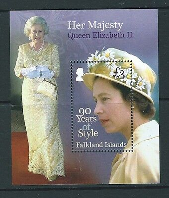 Falkland Islands 2016  Queen Elizabeth 90 Years Of Style Unmounted Mint, Mnh