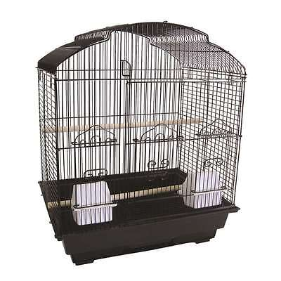 "YML 3/8"" Bar Spacing Shell Top Small Bird Cage - 18""x14"" In Black - 5804BLK"