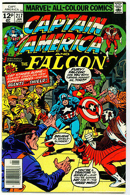 <•.•> CAPTAIN AMERICA AND THE FALCON (VOL.1) • Issue 217 • 1st Quasar • Marvel