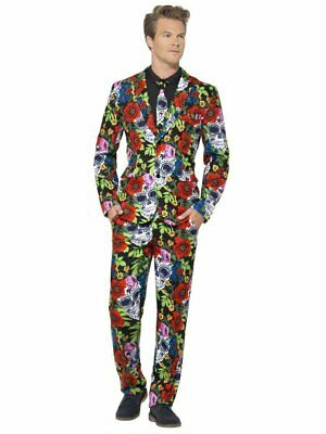 Day Of The Dead Suit Smiffys Fancy Dress Costume