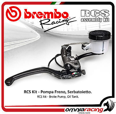 Brembo Racing Kit Radial Brake Pump RCS 19 + Tank Oil + Support Master Cylinder