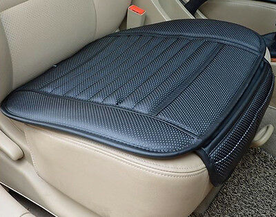 Universal PU Leather Black Bamboo Charcoal Auto Car Office Chair Seat Cover Pads