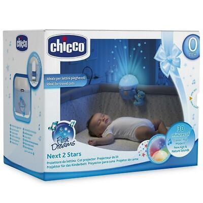 Chicco Next 2 Stars Cot Projector Baby Nightlight with Music & Light (Blue)