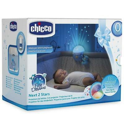 Chicco Next 2 Stars Cot Projector Nightligh Soother with Music & Light (Blue)