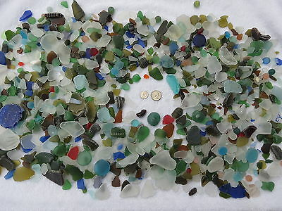 10 Pounds Machine Made Recycled Tumbled Beach Sea Glass Decoration