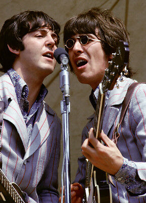 The Beatles Paul McCartney & George Harrison 1966 Concert Photo Picture