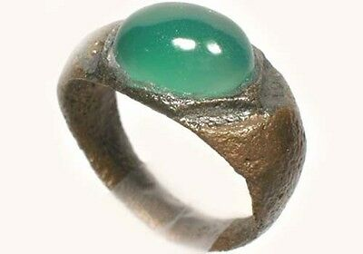 AD300 Ancient Roman Bithnyia Turkey Sz5¼ Ring + 18thC Antique 2¾ct Siberia Agate