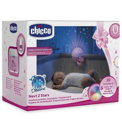 Chicco Next 2 Stars Cot Projector Baby Nightlight with Music & Light (Pink)