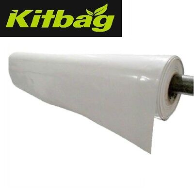 Heavy Duty White Polythene Plastic Sheeting 3M Wide DPM Roll reflective hydro