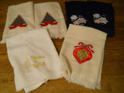 Lot 6 Terry Pile FACE TOWELS BATHROOM TOWELS  New  CHRISTMAS