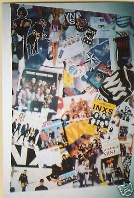INXS 2-sided Rarely Seen music biz PROMO POSTER Shine/Collage mint condition