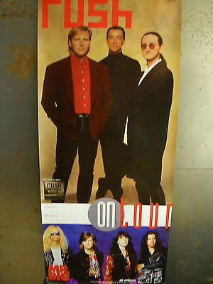RUSH and MR. BIG very rare On Tour 1992 long PROMO POSTER