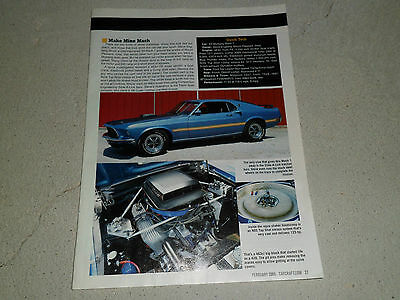1969 FORD MUSTANG MACH I article / ad