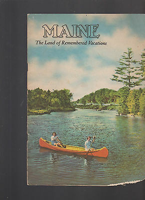 Maine the Land of Remembered Vacations Booklets 1930s
