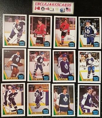1987-88 OPC TORONTO MAPLE LEAFS Select from LIST NHL HOCKEY CARDS O-PEE-CHEE
